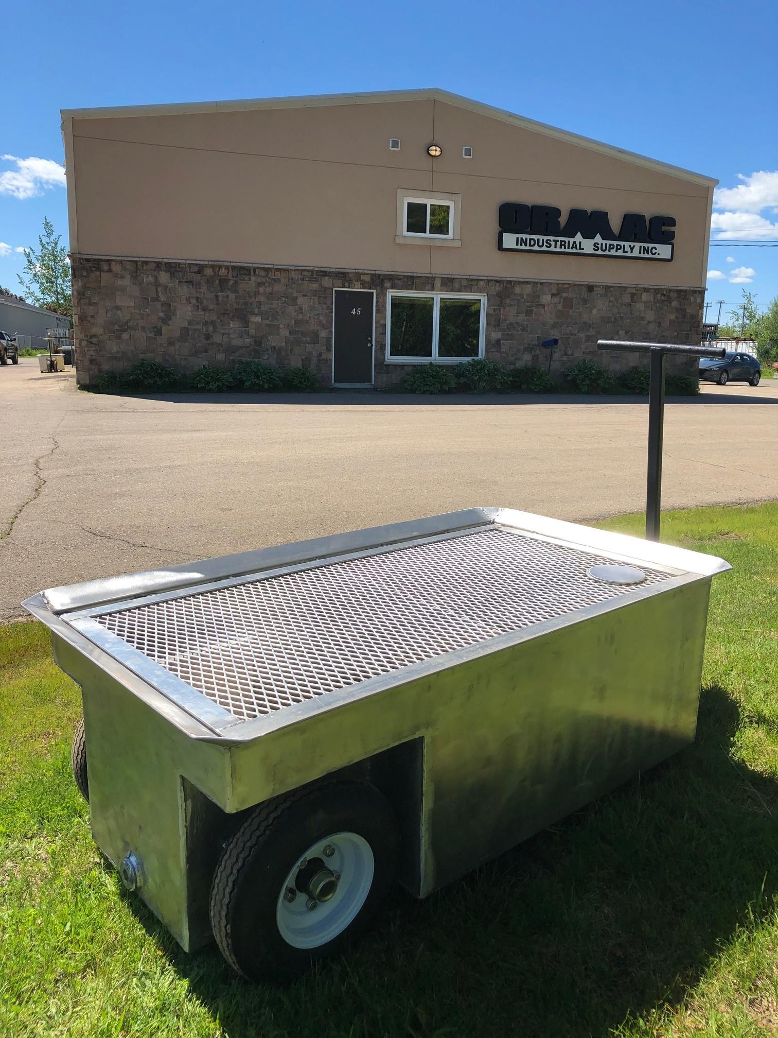 500L Aluminum Waste Oil Cart